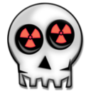download Nuclear Skull clipart image with 315 hue color