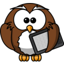 Owl With Ebook Reader