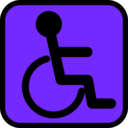 download Accessible Sign clipart image with 45 hue color
