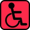 download Accessible Sign clipart image with 135 hue color