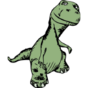 download Dinosaur clipart image with 45 hue color