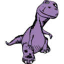 download Dinosaur clipart image with 225 hue color