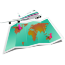 download Travel Map clipart image with 315 hue color