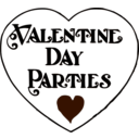 download Valentine Day Parties Title clipart image with 45 hue color