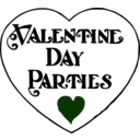 download Valentine Day Parties Title clipart image with 135 hue color