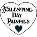 download Valentine Day Parties Title clipart image with 225 hue color