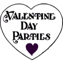download Valentine Day Parties Title clipart image with 315 hue color