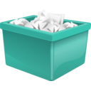 download Green Plastic Box Filled With Paper clipart image with 45 hue color