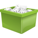 download Green Plastic Box Filled With Paper clipart image with 315 hue color