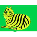 download Tiger Cat clipart image with 45 hue color