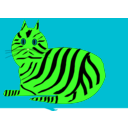 download Tiger Cat clipart image with 90 hue color