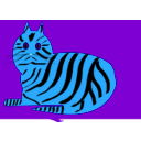 download Tiger Cat clipart image with 180 hue color