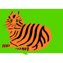 download Tiger Cat clipart image with 0 hue color