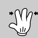 Multitouch Interface Mouse Theme 3 Fingers Pinch