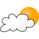 Weather Symbols Cloudy Day Simple