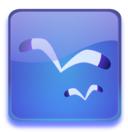 Aqua Button With Seagulls