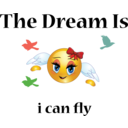 Fly Girl Dream Smiley Emoticon