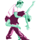 download Dancers In Two Tone Color clipart image with 135 hue color
