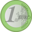 download 1 Euro clipart image with 45 hue color