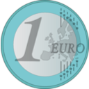 download 1 Euro clipart image with 135 hue color