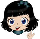 Perfect Girl Manga Smiley Emoticon