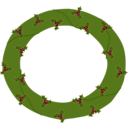 download Wreath Of Evergreen With Red Berries 01 clipart image with 315 hue color