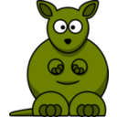 download Cartoon Kangaroo clipart image with 45 hue color