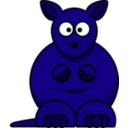 download Cartoon Kangaroo clipart image with 225 hue color