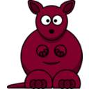 download Cartoon Kangaroo clipart image with 315 hue color