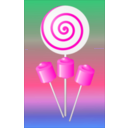 download Lollipops Candy clipart image with 315 hue color
