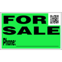 download For Sale Sign With Qr Code clipart image with 135 hue color