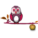 download Owl On Branch clipart image with 315 hue color