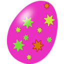 download Purple Easter Egg clipart image with 45 hue color