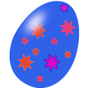 download Purple Easter Egg clipart image with 315 hue color