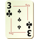 Ornamental Deck 3 Of Clubs