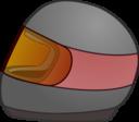 Simple Bike Racing Helmet Icon