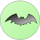 download Bat In Front Of Moon clipart image with 45 hue color