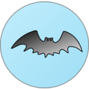 download Bat In Front Of Moon clipart image with 135 hue color