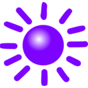 download Weather Symbols Sun clipart image with 225 hue color