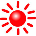 download Weather Symbols Sun clipart image with 315 hue color
