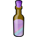 download Bottle Of Colored Sand With Cork clipart image with 225 hue color