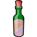 download Bottle Of Colored Sand With Cork clipart image with 315 hue color