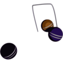download Croquet Action clipart image with 135 hue color