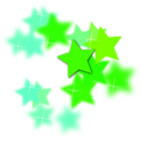 download Star Flourish clipart image with 135 hue color