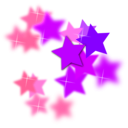 download Star Flourish clipart image with 315 hue color