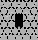 Round Hexagon Clover Tiled