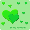 download Be My Valentine clipart image with 135 hue color