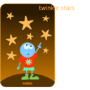 download Numu09 Stars clipart image with 180 hue color