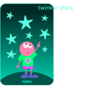 download Numu09 Stars clipart image with 315 hue color
