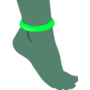 download Foot With Anklet clipart image with 135 hue color